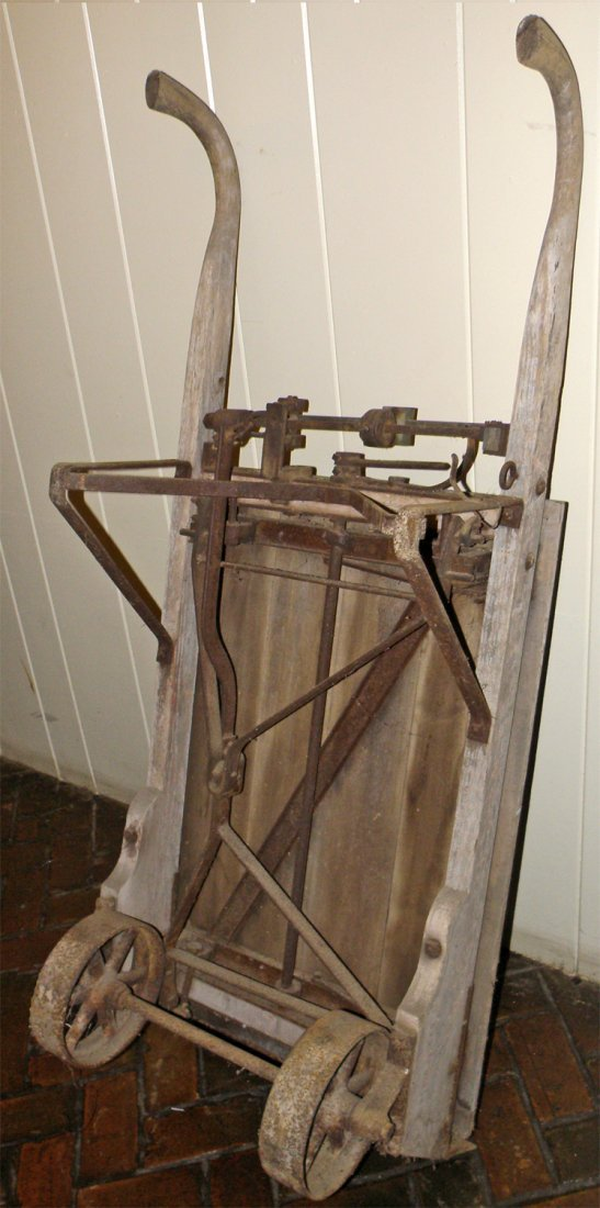ANTIQUE HAND CART WITH BUILT IN SCALE - 2