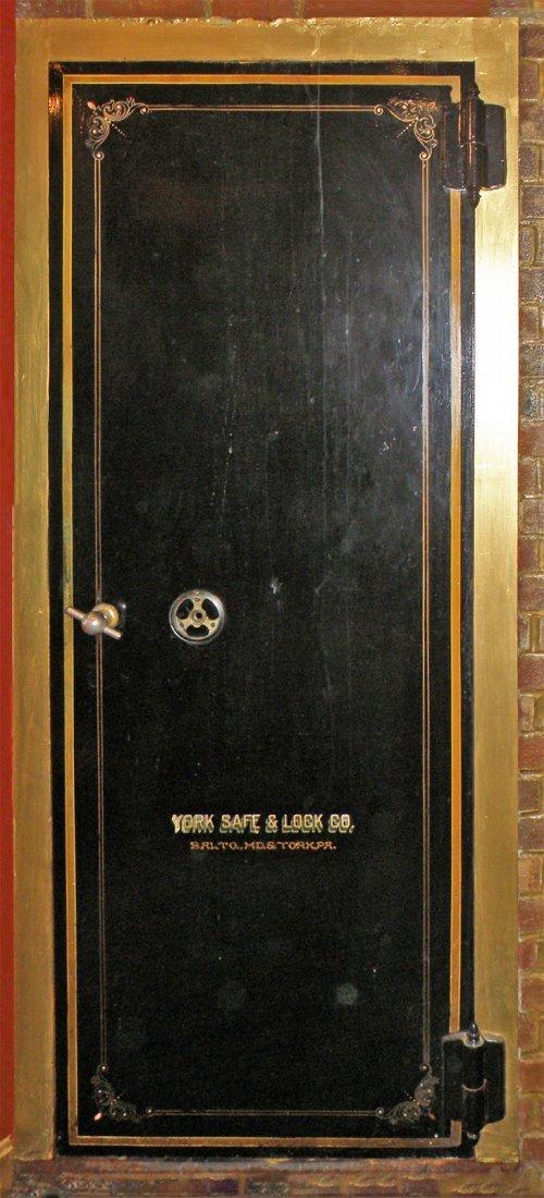 york safe. antique york safe cast iron bank vault door york safe