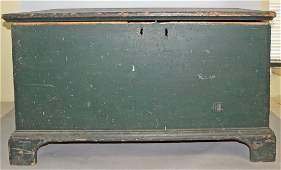ANTIQUE PAINTED PINE BLANKET CHEST