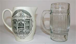 STAFFORDSHIRE HISTORICAL PITCHER & RICHARDSON ROOTBEER