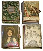 FOUR VICTORIAN MUSICAL PHOTO ALBUMS