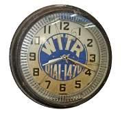 NEON SPINNER RADIO STATION CLOCK