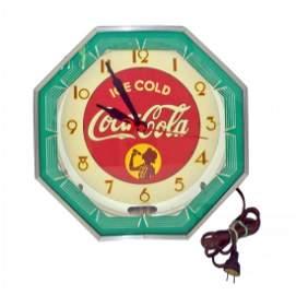NEON COCA-COLA CLOCK