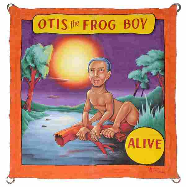 OTIS THE FROG BANNER BY JOHNNY MEAH