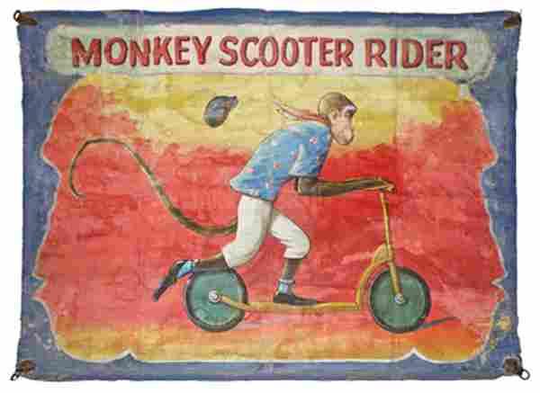 MONKEY SCOOTER RIDER BY NEIMAN EISMAN
