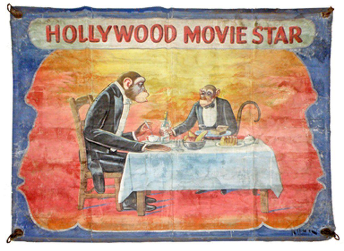 HOLLYWOOD MOVIE STAR BANNER BY NEIMAN EISMAN