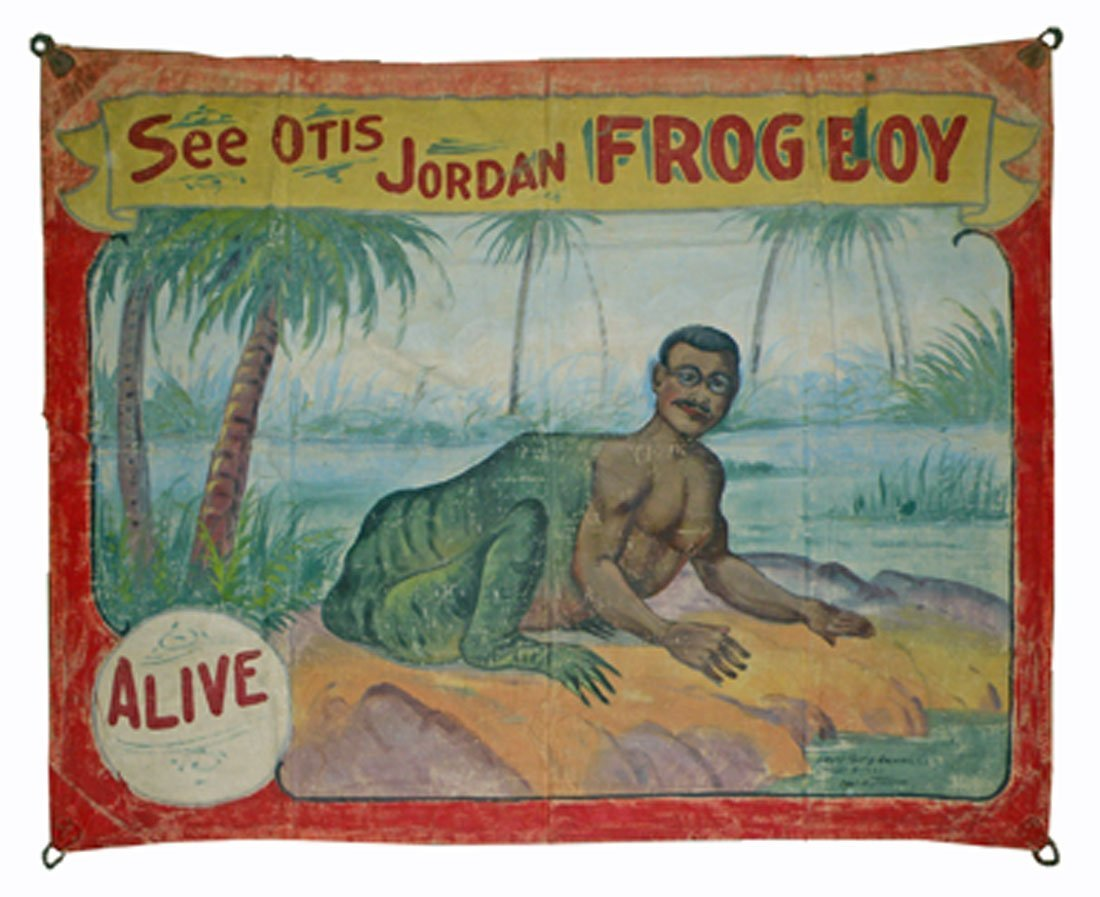 FRED JOHNSON OTIS JORDAN FROG BOY BANNER
