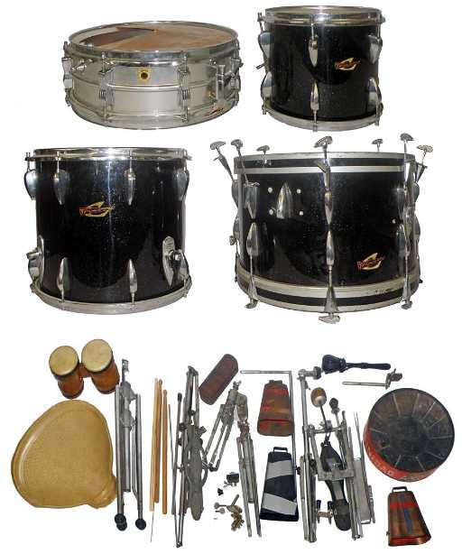 DRUMSET WITH TRIXON AND LUDWIG DRUMS c5c33c4a0