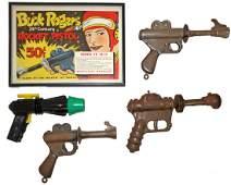 FOUR BUCK ROGERS SPACE GUNS