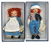 BOXED R.  JOHN WRIGHT RAGGEDY ANN AND ANDY