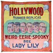 """""""HOLLYWOOD RUBBER REPLICAS"""" SIDESHOW BANNER"""