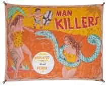 MAN KILLER GIANT SNAKE SIDESHOW BANNER