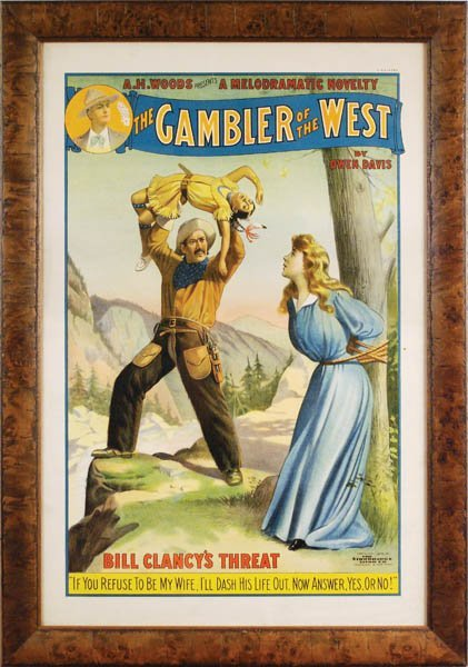 """1: """"The Gambler of the West"""" Lithograph"""