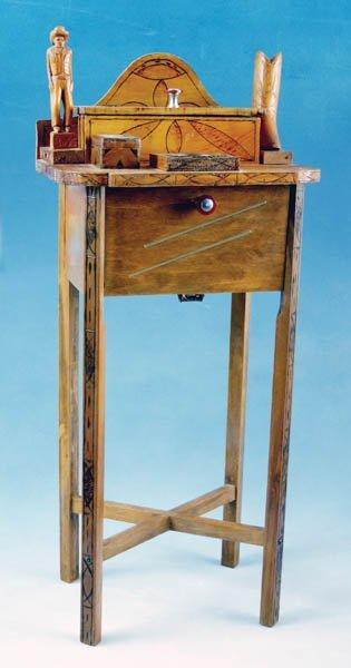 9: Tramp Art Smoking Table