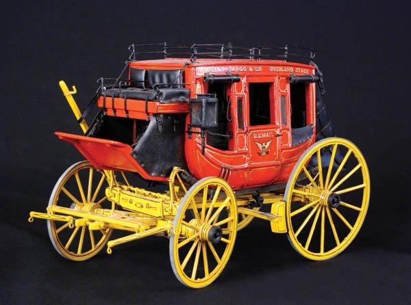 12: Vintage Handmade Scale Stagecoach