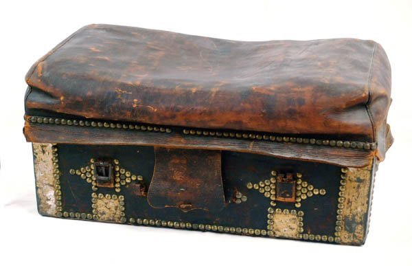 15: 19th C Carriage or Stage Coach Trunk