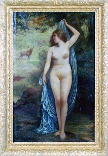 19: Oil on Canvas Saloon Nude