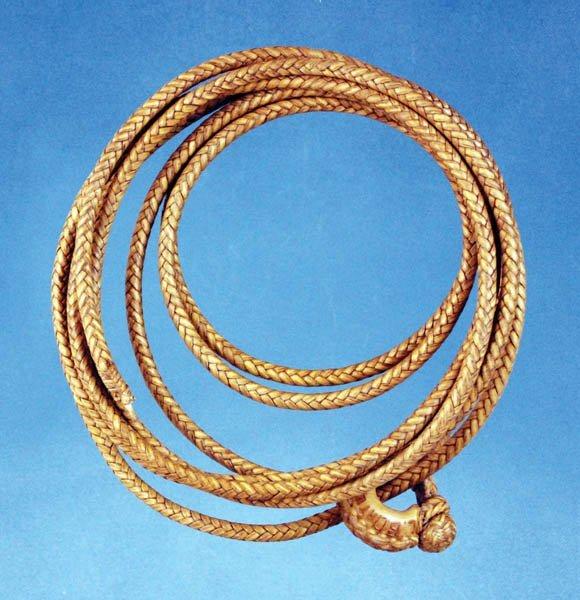 325: Luis B. Ortega Rawhide Lead Rope