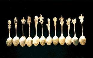 Collection of Cowboy & Indian Spoons Six (