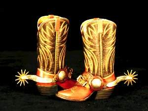 Miniature Cowboy Boots & Spurs Intricate s