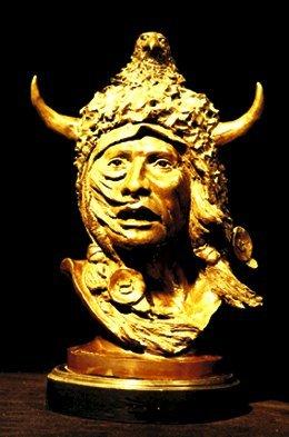 """5: James A. Gruzalski (b. 1935) Bronze """"Buffa"""