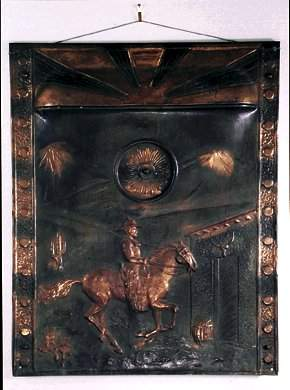 Coppertone Fireplace COVER, 24 x 30 Unusua