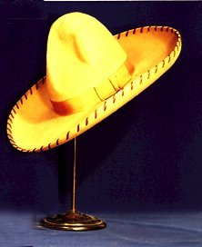 11: Large Brown 1930's Cowboy HAT Leather buc