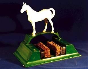 "Cast Iron Horse BOOT SCRAPER 11"" vintage"