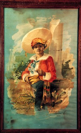 "14: Engaging Santa Fe Railroad POSTER ""Sante"