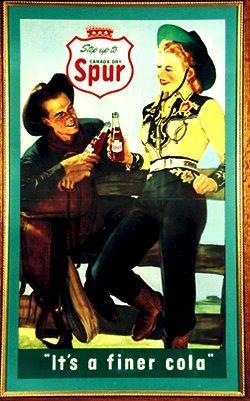 "15: 1950's Spur Soda Cardboard SIGN 33"" x 49"""