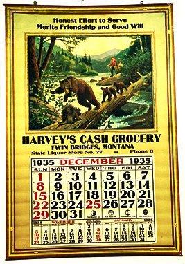 16: 1935 Philip R. Goodwin Calendar For Harve