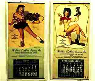 1960's Cowgirl Pin-Up Calendars For the G