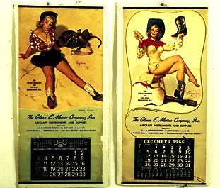 17: 1960's Cowgirl Pin-Up Calendars For the G