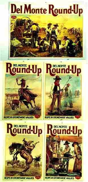 Set of 5 Del Monte Round-Up Posters Graph
