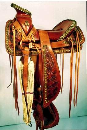 Ornate Mexican Show Saddle Lavishly adorn