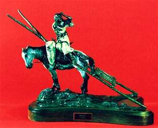 """Jay Contway 1990 Bronze """"Travois"""" #27 of"""