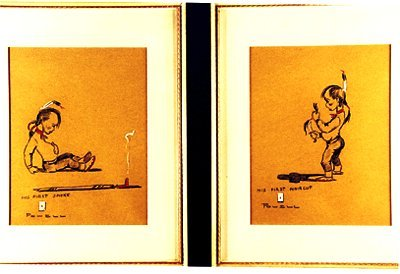24: Pair of Ace Powell Drawings on Paper Each
