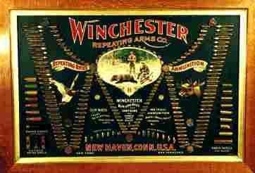 "162: Winchester Double ""W"" Bullet Board 58""wi"