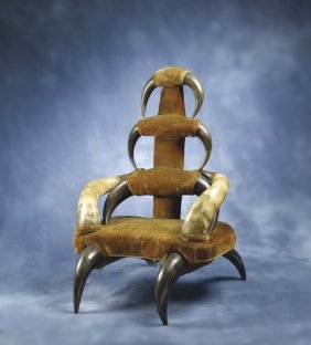 1: Child's Horn Chair