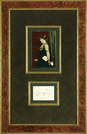 11: Lillie Langtree Framed Photograph and Calling Card