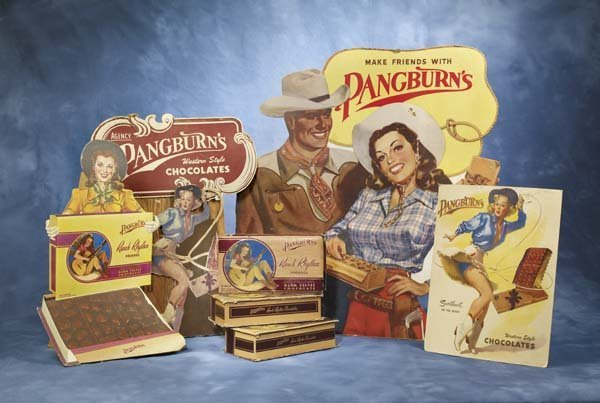 14: Pangburn's Chocolates Cowboy and Cowgirl Store Disp