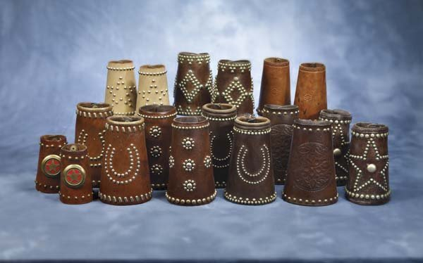 18: Lot of 9 Pair of Fine Studded Cuffs