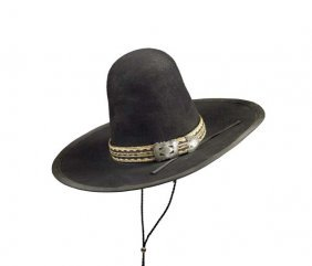 High-Crown Indian Hat With Horsehair Band