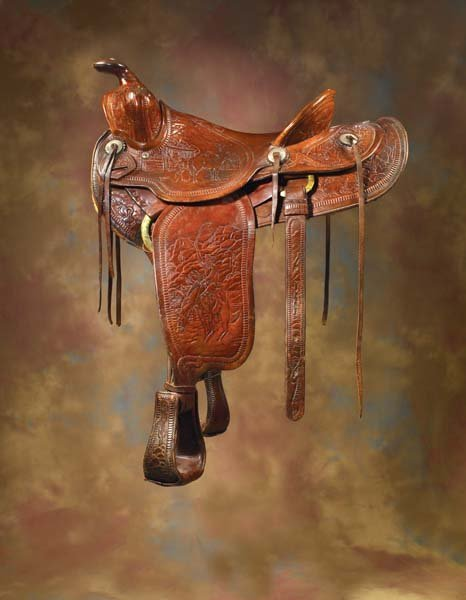 18: Schaff, San Bernardino, California Pictorial Saddle