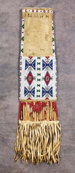 249: Sioux Beaded and Quilled Pipe Bag
