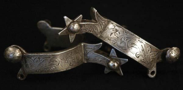 3: Full Silver Overlaid Wyoming Spurs