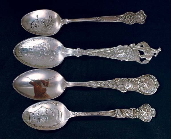 "13: Four ""Texas"" Spoons"