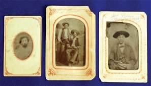 374: Seven Western Tin Type Photos