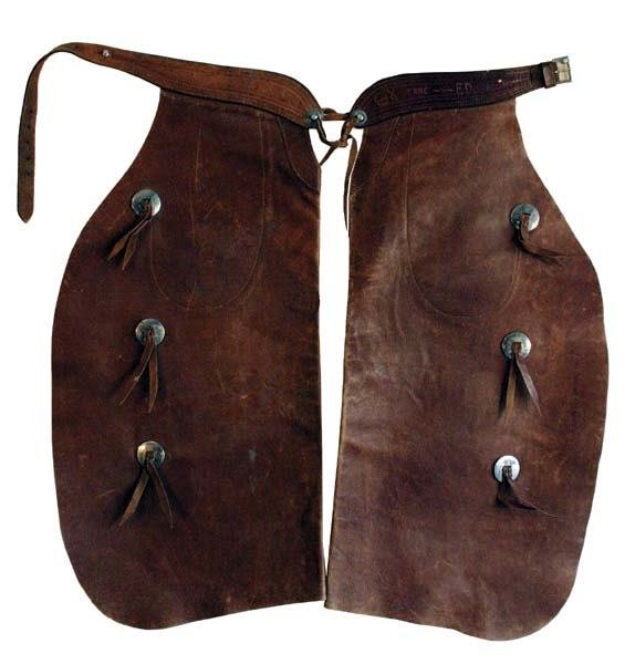 465: c 1930s Ranch Carved Batwing Chaps