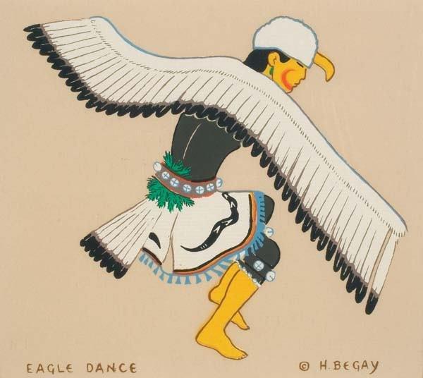 "472: Harrison Begay (b 1917) ""Eagle Dance"""